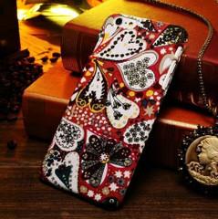 Red Hearts Fabric iPhone 6 Plus & 6S Plus Case   Designer iPhone Case 6 Plus & 6S Plus   iPhone Covers   iCoverLover