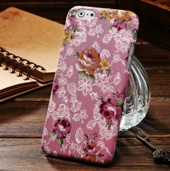 Pink Flowers Fabric iPhone 6 Plus & 6S Plus Case | Designer iPhone Case 6 Plus & 6S Plus | iPhone Covers | iCoverLover