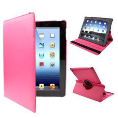 Red Plum Rotatable Leather iPad 2, iPad 3, iPad 4 Case | Cool iPad 2, 3, 4 Cases | iPad 2, 3, 4 Covers | iCoverLover