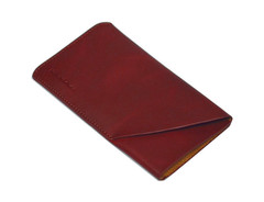 iPhone SE (2020) / 8 / 7 / 6s / 6 Reddish Brown Genuine Leather Pouch | iCoverLover