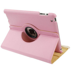 Pink Rotatable Leather Smart Function iPad 2 / iPad 3 / iPad 4 Case | Leather iPad 2, 3, 4 Cases | Smart iPad 2, 3, 4 Covers | iCoverLover
