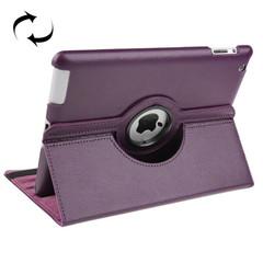 Purple Rotatable Leather Smart Function iPad 2 / iPad 3 / iPad 4 Case | Leather iPad 2, 3, 4 Cases | Smart iPad 2, 3, 4 Covers | iCoverLover