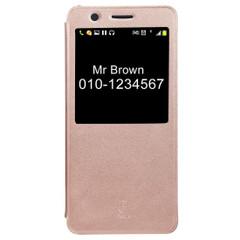 Gold Baseus Leather Caller ID Display Samsung Galaxy Note FE Case | Leather Samsung Galaxy Note FE Cases | Leather Samsung Galaxy Note FE Covers | iCoverLover