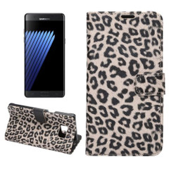 Yellow Leopard Leather Wallet Samsung Galaxy Note FE Case  | Leather Samsung Galaxy Note FE Cases | Leather Samsung Galaxy Note FE Covers | iCoverLover