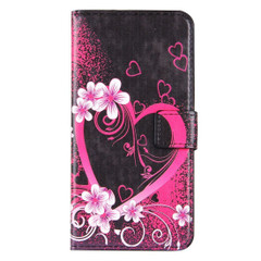 Blossoming Heart Leather Wallet iPhone 8 PLUS & 7 PLUS Case | iPhone 8 PLUS & 7 PLUS Case Leather Cases | iPhone 8 PLUS & 7 PLUS Case Leather Covers | iCoverLover