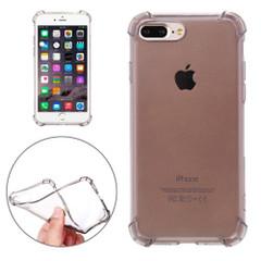Black Shockproof Grippy Transparent iPhone 8 PLUS & 7 PLUS Case | Protective iPhone 8 PLUS & 7 PLUS Cases | Protective iPhone 8 PLUS & 7 PLUS Covers | iCoverLover