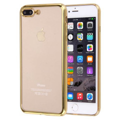 Gold Clear Electroplating iPhone 8 PLUS & 7 PLUS Case | Protective iPhone 8 PLUS & 7 PLUS Cases | Protective iPhone 8 PLUS & 7 PLUS Covers | iCoverLover