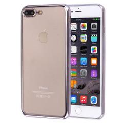 Grey Transparent Electroplating iPhone 8 PLUS & 7 PLUS Case | Protective iPhone 8 PLUS & 7 PLUS Cases | Protective iPhone 8 PLUS & 7 PLUS Covers | iCoverLover