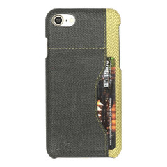 Black Woven Pattern Leather iPhone 8 & 7 Case | Protective iPhone 8 & 7 Cases | Protective iPhone 8 & 7 Covers | iCoverLover