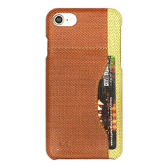 Brown Woven Pattern Leather iPhone 8 & 7 Case | Protective iPhone 8 & 7 Cases | Protective iPhone 8 & 7 Covers | iCoverLover
