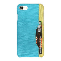 Blue Woven Pattern Leather iPhone 8 & 7 Case | Protective iPhone 8 & 7 Cases | Protective iPhone 8 & 7 Covers | iCoverLover