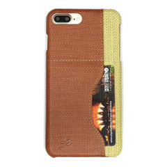 Brown Woven Pattern Leather iPhone 8 PLUS & 7 PLUS Case   Protective iPhone 8 PLUS & 7 PLUS Cases   Protective iPhone 8 PLUS & 7 PLUS Covers   iCoverLover