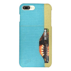 Blue Woven Pattern Leather iPhone 8 PLUS & 7 PLUS Case | Protective iPhone 8 PLUS & 7 PLUS Cases | Protective iPhone 8 PLUS & 7 PLUS Covers | iCoverLover