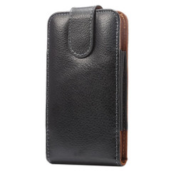 Black Upright Lychee Genuine Leather Waist Universal 5'2 Inch Bag | Universal Bag Genuine Leather Cases | Universal Bag Genuine Leather Covers | iCoverLover