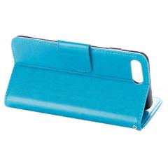 Blue Butterflies Emboss Leather Wallet iPhone 8 PLUS & 7 PLUS Case | Leather Wallet iPhone 8 PLUS & 7 PLUS Cases | Leather iPhone 8 PLUS & 7 PLUS Covers | iCoverLover
