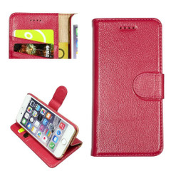 iPhone SE (2020) / 8 / 7 Case Pink Cowhide Genuine Leather Wallet Case | iCoverLover
