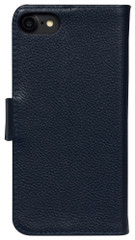 iPhone 8 & iPhone 7 Case Navy Blue Cowhide Genuine Leather Wallet Case with 2 Card Slots, Kickstand | Genuine Leather iPhone 8 & iPhone 7 Covers Cases | Genuine Leather iPhone 8 & iPhone 7 Covers