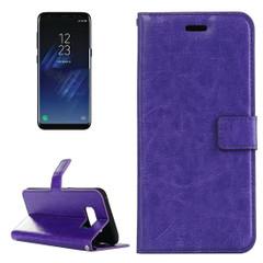 Purple Retro Horse Texture Leather Samsung Galaxy S8 Case   Leather Samsung Galaxy S8 Cases   Leather Samsung Galaxy S8 Covers   iCoverLover