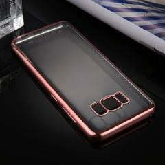Rose Gold Transparent Electroplating Samsung Galaxy S8 PLUS Case | Protective Samsung Galaxy S8 PLUS Cases | Protective Samsung Galaxy S8 PLUS Covers | iCoverLover