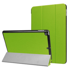 Green Karst Textured 3-fold Leather iPad 2017 9.7-inch Case | Leather iPad 2017 Cases | iPad 2017 Covers | iCoverLover