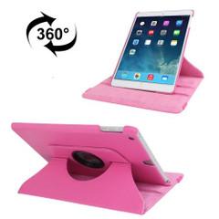 Magenta Lychee Rotatable Leather iPad 2017 9.7-inch Case   Leather iPad 2017 Cases   iPad 2017 Covers   iCoverLover
