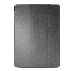 Black Silk Textured Smart Leather iPad 2017 9.7-inch Case | Leather iPad 2017 Cases | iPad 2017 Covers | iCoverLover