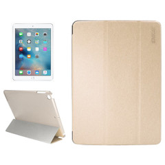 Gold Silk Textured Smart Leather iPad 2017 9.7-inch Case | Leather iPad 2017 Cases | iPad 2017 Covers | iCoverLover