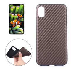 Brown Carbon Fiber Textured iPhone XS & X Case | Protective iPhone XS & X Cases | Protective iPhone XS & X Covers | iCoverLover