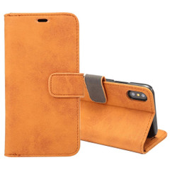 Brown Sheep Texture Leather Wallet iPhone XS & X  Case | Leather iPhone XS & X Covers | Leather iPhone XS & X Cases | iCoverLover