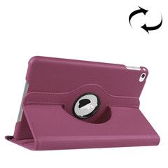 Purple Lychee 360-Degree Rotating Leather iPad Mini 4 Case | Leather iPad Mini 4 Cases | Leather iPad Mini 4 Covers