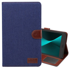 Dark Blue Denim Texture Leather Wallet Samsung Galaxy Tab A 8.0 (2017) Case | Leather Samsung Galaxy Tab A 8.0 (2017) Covers | Leather Samsung Galaxy Tab A 8.0 (2017) Cases | iCoverLover