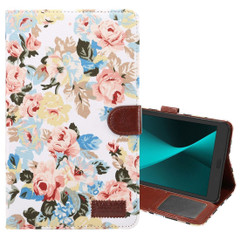 White Flower Cloth Leather Wallet Samsung Galaxy Tab A 8.0 (2017)  Case  | Leather Samsung Galaxy Tab A 8.0 (2017) Covers | Leather Samsung Galaxy Tab A 8.0 (2017) Cases | iCoverLover