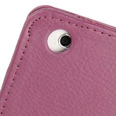 Purple Lychee Texture 2-fold Folio Leather iPad Mini 1, 2, 3 Case | Leather Apple iPad Mini Covers | Leather iPad Mini Cases | iCoverLover