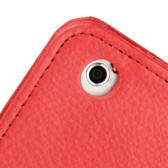 Red Lychee Texture 2-fold Folio Leather iPad Mini 1, 2, 3 Case | Leather Apple iPad Mini Covers | Leather iPad Mini Cases | iCoverLover