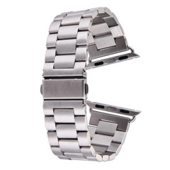 Silver Apple Watch 1,2,3,4(40mm,38mm) Butterfly Stainless Steel Watch Strap | Stainless Steel Apple Watch Bands | iCoverLover