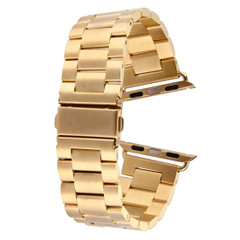 Gold Apple Watch 1,2,3,4(40mm,38mm) Butterfly Stainless Steel Watch Strap | Stainless Steel Apple Watch Bands | iCoverLover