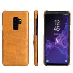 Samsung Galaxy S9 Case Yellow Deluxe PU Leather Back Shell with 2 Card Slots, Anti-Slip, Shockproof & Scratch-proof | Leather Samsung Galaxy S9 Covers | Leather Samsung Galaxy S9 Cases | iCoverLover