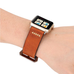 Coffee Retro Genuine Leather Wristwatch Strap 40mm,38mm for Apple Watch Series 1,2,3 and 4 | Genuine Leather Apple Watch Bands | iCoverLover
