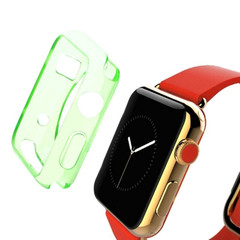 Green Apple Watch 1,2,3,4 (44mm,42mm) Slim TPU Protective Case   Silicone Sports Apple Watch Cases   iCoverLover