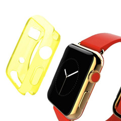Yellow Apple Watch 1,2,3,4 (44mm,42mm) Slim TPU Protective Case | Silicone Sports Apple Watch Cases | iCoverLover