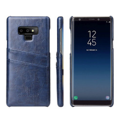 Samsung Galaxy Note 9 Case Blue Deluxe Leather Back Shell Cover   Leather Samsung Galaxy Note 9 Covers   Leather Samsung Galaxy Note 9 Cases   iCoverLover