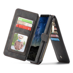 Samsung Galaxy Note 9 Case Black Crazy Horse Detachable Flip Leather Wallet Case with Card Slots and Kickstand | Leather Samsung Galaxy Note 9 Covers | Leather Samsung Galaxy Note 9 Cases | iCoverLover