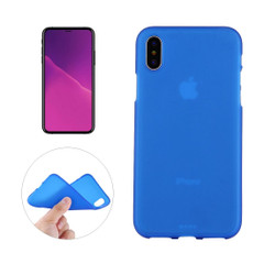 iPhone XS MAX Back Case Blue Solid Frosted Soft TPU Cover | Protective Apple iPhone XS MAX Covers | Protective Apple iPhone XS MAX Cases | iCoverLover