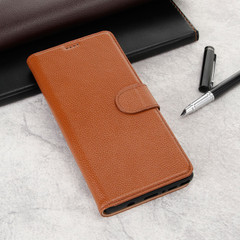 Samsung Galaxy Note 9 Case Brown Fashion Cowhide Genuine Leather Slim Wallet with 2 Card Slots and 1 Cash Compartment | Genuine Leather Samsung Galaxy NOTE 9 Covers Cases | Genuine Leather Samsung Galaxy NOTE 9 Covers