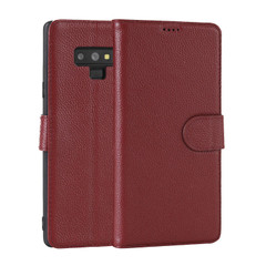 Samsung Galaxy Note 9 Case Red Fashion Cowhide Genuine Leather Slim Wallet with 2 Card Slots and 1 Cash Compartment | Genuine Leather Samsung Galaxy NOTE 9 Covers Cases | Genuine Leather Samsung Galaxy NOTE 9 Covers