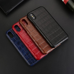 Apple iPhone XS Max Case Blue Genuine Crocodile Leather Back Shell Cover | Apple iPhone XS Max Genuine Leather Covers | Apple iPhone XS Max Leather Cases | iCoverLover