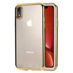 iPhone XR Case Gold Ultra-thin Electroplating Transparent TPU Protective Back Cover | Protective Apple iPhone XR Covers | Protective Apple iPhone XR Cases | iCoverLover