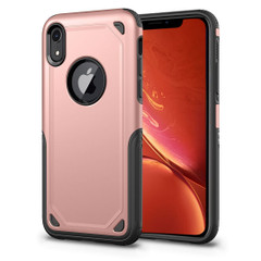 iPhone XR Case Rose Gold Shockproof Rugged Armor Protective Cover with Wireless Charging Support   Armor Apple iPhone XR Covers   Armor Apple iPhone XR Cases   iCoverLover