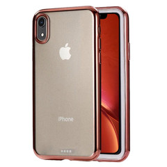 iPhone XR Case Rose Gold Ultra-thin Electroplating Transparent TPU Protective Back Cover | Protective Apple iPhone XR Covers | Protective Apple iPhone XR Cases | iCoverLover