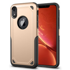 iPhone XR Case Gold Shockproof Rugged Armor Protective Cover with Wireless Charging Support | Armor Apple iPhone XR Covers | Armor Apple iPhone XR Cases | iCoverLover